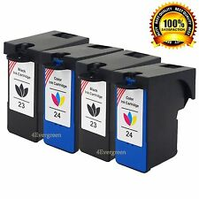 4 Excellent Ink Cartridge #23 #24 For Lexmark Z1400 X3430 X4530 X6440 Z1420 H.Y