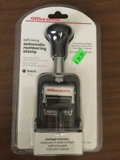 Office Depot (841-596) Black Self-Inking Automatic Numbering Stamp w/ 8 Modes