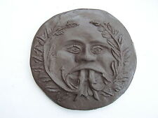 Bronze effect British Green Man Medieval sculpture  BIGFOOT - Woodwose