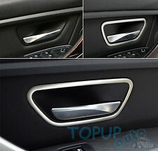 FIT FOR BMW 3-SERIES F30 F34 320 328 CHROME INNER DOOR HANDLE COVER BEZEL TRIM