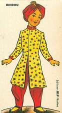 HINDU Hindou INDE INDIA COSTUME CARD IMAGE 50s