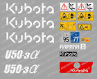 KUBOTA U50-3 MINI BAGGER KOMPLETTE AUFKLEBER SATZ MIT SICHERHEIT-WARNZEICHEN