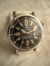 Vintage montre de plongée Lip Nautic Ski 1ere generation divers watch compressor