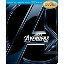 Marvel's The Avengers SteelBook 3D [Blu-ray 3D + Blu-ray + DVD + Digital] NEW