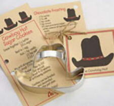 COWBOY HAT ~ HORSE ~ tin cookie cutter DUO ~ MADE IN THE USA (NEW)