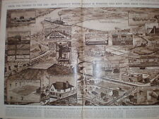 How the London Water Supply is Purified G H Davis 1947 old print