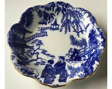 Royal Crown Derby Blue Mikado Scalloped Candy Dish