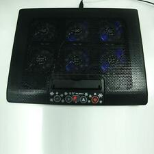 """6 Fan 12""""-17"""" Laptop Tablet Built-In USB LED Cooling Cooler Foldable Stand Pad"""