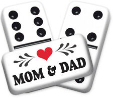 Greeting Series Mom & Dad Design Double six Professional size Dominoes