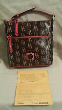 NWT Dooney & Bourke 1975 Signature Letter Carrier Brown Red HJ25G RD Retail $168