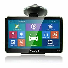 "XGODY 5"" Inch Car GPS Navigation Sat Nav Bluetooth AV-IN+Sunshade 4GB NEW Map"