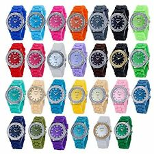 Ladies Sport Watch Wholesale Lot Of 10 Jelly Genevas Women 7805 Assorted Colors