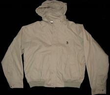 RUM ISLAND Hidden Hood Lightweight Nautical Type Lined Khaki Jacket Mns 2X EXC