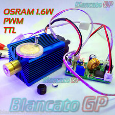 MODULO LASER 450nm 1,6W DIODO OSRAM punto blu modulazione TTL e PWM incisione
