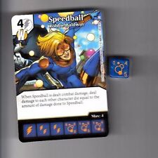 DICE MASTERS CIVIL WAR CARD & DICE COMMON #65 SPEEDBALL ROBBIE BALDWIN