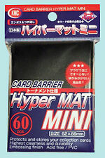 60 KMC MINI HYPER MAT BLACK Small Card Barrier NEW Matte Deck Protector Sleeves