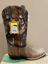 New smoky mountian western boots green & brown camo women's size 8.5