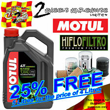 5L LTRS MOTUL 5100 10W40 OIL AND HIFLO HF111 FILTER HONDA CX500 TC TURBO 82 1982