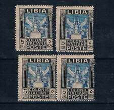 Libya 1921 SC#30 5 Lire Pair MH+MNH PERF 14 &2x PERF 13x14 MH Libia Italy Colony