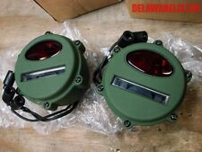 Military Truck/Trailer/Jeep M151 M38 M37 Brake Stop Blackout Tail Light Red Lens