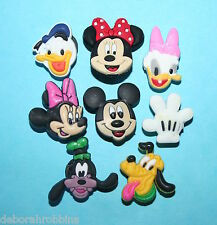 8 Mickey Mouse Shoe Charms Decorations Minnie Cake Party Favours MINNIE GIFT NEW