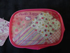 Sanrio Hello Kitty Vinyl Case Make Up Accessories Travel