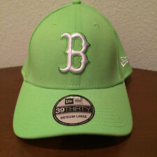 Boston Red Sox New Era 39Thirty St Patrick's Lime Green M/L Fitted Hat NWT
