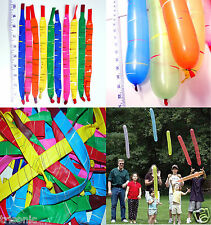 60 PCS LONG JUMBO ROCKET BALLOON SOAR DIVE WHISTLE FLY TWIST PARTY KID'S TOY