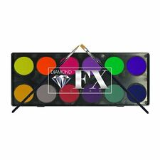 Diamond FX Face Paint Palette ~ 12 x 10g Neon & Metallic Colours