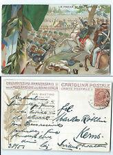 STORIA POSTALE 1920 REGNO 10 CENTESIMI SU CARTOLINA S. MARTINO D/4168