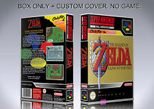 ZELDA A LINK TO THE PAST. PAL. Box/Case. Super Nintendo. BOX + COVER. (NO GAME).