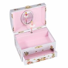 Wooden Children's Spinning Ballerina Jewelry/Music Box Plays Swan Lake