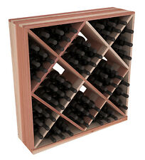 82 Bottle Diamond Cube Wine Cellar Rack Kit in Redwood. Hand Crafted in the USA.