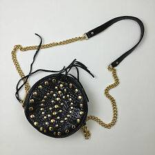 Rebecca Minkoff Rose Round Shoulder Bag Black/Gold MINT CONDITION SOLD OUT