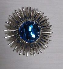 Sarah Coventry Signed Vintage Crystal Rhinestone Center Starburst Atomic Brooch
