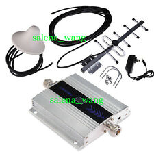 LCD GSM 900Mhz Cell Phone Signal Repeater Booster Amplifier + Yagi Antenna 1SET