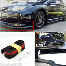 8.2ft Car Front Bumper Spoiler Lip Splitter Valance Chin Protector Body Rubber