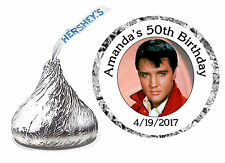 216 ELVIS PRESLEY BIRTHDAY PARTY FAVORS HERSHEY KISS KISSES LABELS