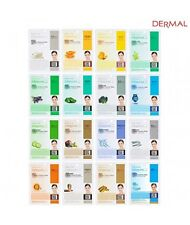 Dermal Korea Collagen Essence Full Face Facial Mask Sheet, 16 Combo Pack New