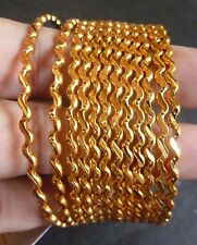 South Indian 22K Gold Plated 12 Pcs Indian All Purpose Bangles Bracelets 2.8''
