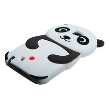 Samsung Galaxy Note II 2 N7100 - SOFT SILICONE RUBBER CASE BLACK WHITE 3D PANDA
