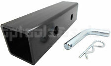 """Trailer Hitch Reducer Adapter 2"""" to 1-1/4"""" Receiver Tow Towing Big To Small New"""