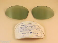 "WWII AN6530 Pilot Aviation ""Original"" Green Goggle Glass Lenses"