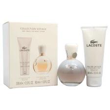 NEW Lacoste Collection Voyage Gift Set 3 OZ EDP Spray + 3.3 OZ Body Lotion Women