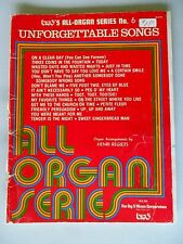 Unforgettable Songs Big 3's All Organ Series No. 6 SC B3-2719