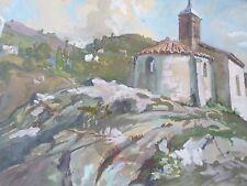 FERNAND RENAULT Albert, 1887-1939 Gouache-signée- Bretagne-La chapelle-cadre