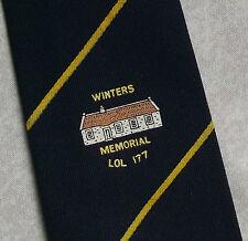 VINTAGE MASONIC LODGE TIE MASONS WINTERS MEMORIAL L.O.L. 177 1970s 1980s RETRO