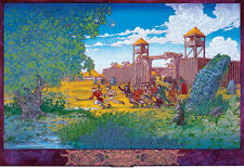 CELTIC IRISH FANTASY ART PRINT THE BOYHOOD OF CUCHULAIN 8x11 By Jim FitzPatrick