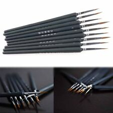 9X Artist Paint Brush Set Weasel Hair Watercolor Acrylic Oil Painting Sketch Pen