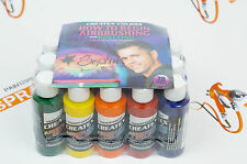 DVD + 18 colors Createx Airbrush Colors Paints Set 2oz for airbrushing 5813-00